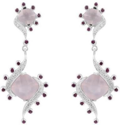 VelvetCase Multicolor Gemstone 925 Silver Earrings Topaz Silver Hoop Earring