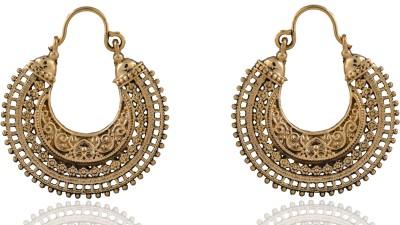 ZeroKaata Rajwadi Art Earrings Brass Hoop Earring