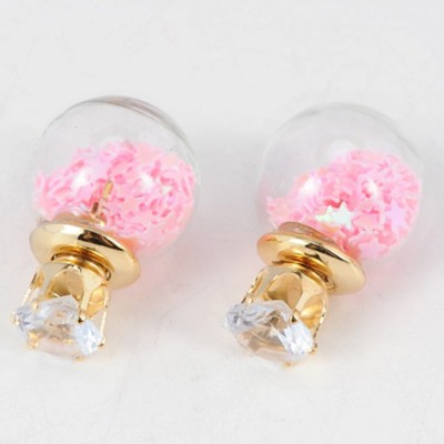 Cilver Fashion Latest Star filled double sided Alloy Plug Earring, Stud Earring