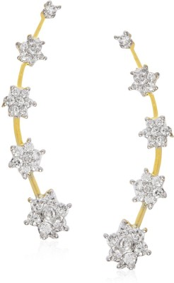 Jewels Galaxy Hand Crafted American Diamond1145 Alloy Cuff Earring