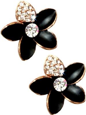 Cyazz Flower American Studs Crystal Metal Stud Earring