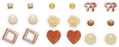 Jewelz Jewelz Casual Collcetion Combo Earring Set Metal Stud Earring