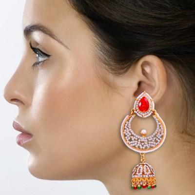 Kraft Central Gold and Diamond Royal Traditional Jhumki Alloy Jhumki Earring