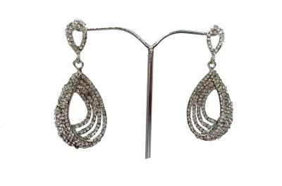 modifier Silver Sparkle Crystal Alloy Drop Earring