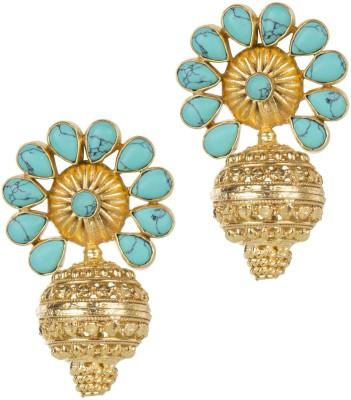 Mehtaphor Tulika_5 Crystal Brass Stud Earring