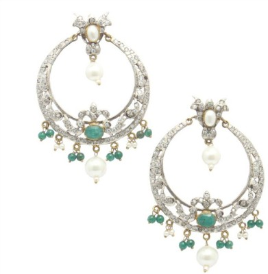 Reva Spring Sparkle Alloy, Metal Chandbali Earring