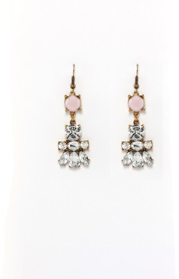 Rudrani Flower Shape Titanium, Alloy, Crystal Drop Earring