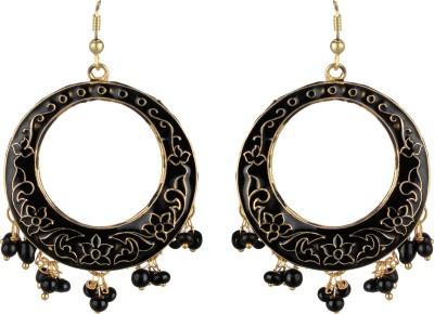 SAADGI Precious Classic Ethnic Style Minkari Beads Metal Dangle Earring