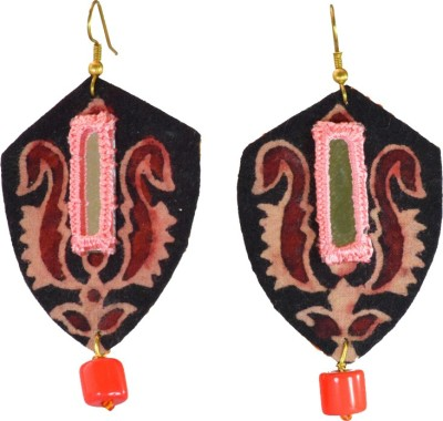 Ba No Batwo pratibimb Fabric, Glass Dangle Earring