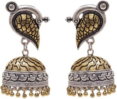 Shree Shyam Handicraft Peacock Shape Brass Jhumki Earring