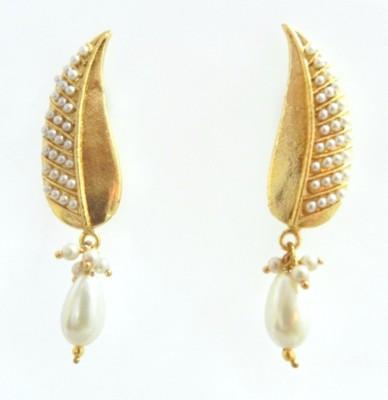 Radhesh Creation Crystal Brass Stud Earring