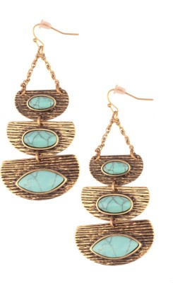 Trinketbag Turquoise big eye sequenced Alloy Dangle Earring