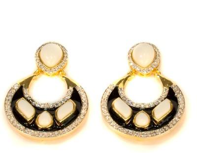 Amarsons Pearls Victorian Hanging Alloy Chandbali Earring