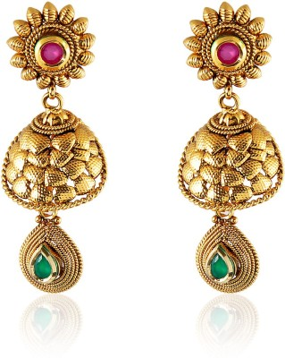 Royal Bling Ivory Floweret+O67 Copper Drop Earring