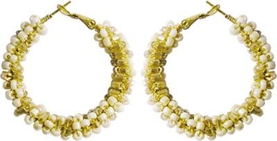 Kenway Retail Sanguine Rowena Metal, Glass Hoop Earring