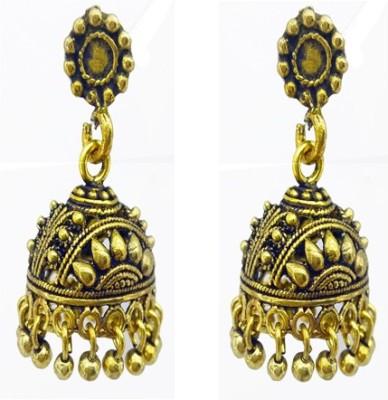 Gurjari SAMLLROUND Brass Jhumki Earring