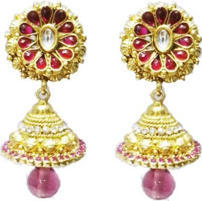 Labdhi Rajawadi Copper Jhumki Earring
