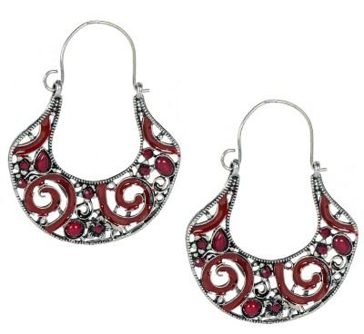 Luxor Sparkling Beads Studded Brass Dangle Earring