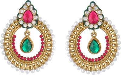 Royal Bling The Aquamarine Scarlet Brass Chandbali Earring