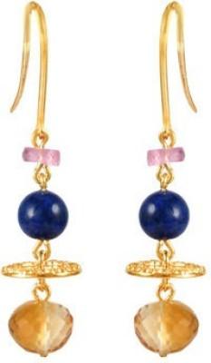 VelvetCase Gemstone Energy Earrings Citrine Silver Drop Earring