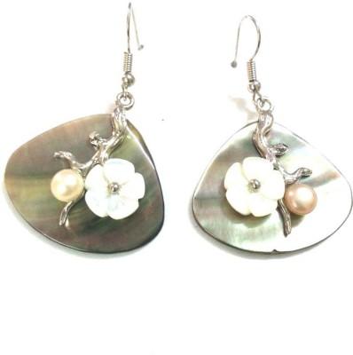 6LOTUS SHELL Shell Dangle Earring