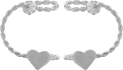Fayon Chic Stylish Silver Heart & Unique Wire Crystal Alloy Cuff Earring