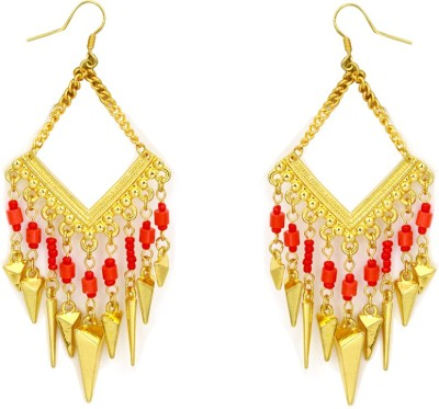 Madclozet Golden Chime Metal Dangle Earring