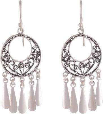 Chandrika Pearls Ethnic Silver Chandelier Earring