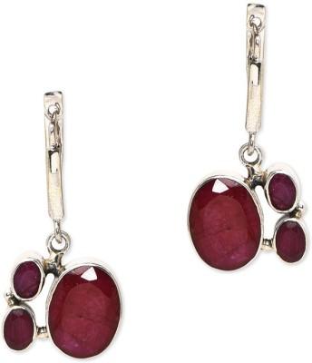 Watch Me Three for Trouble Earrings- Wine Sterling Silver Dangle Earring