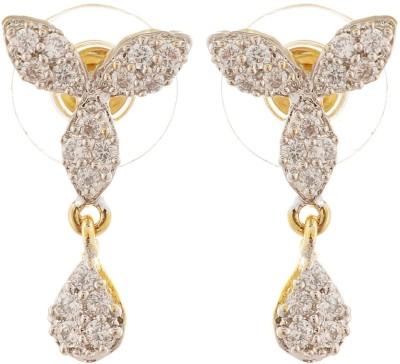 tsb RETAILS CZ Brass Drop Earring