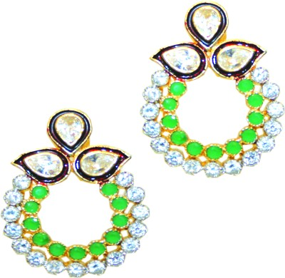 Bejeweled Brass Chandbali Earring