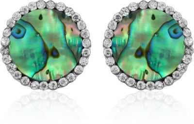 BoBell AD abalone Mother of Pearl Alloy Stud Earring