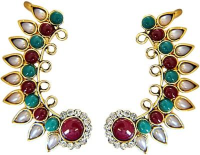 Surat Diamond Everlasting Magic Pearl Metal Cuff Earring