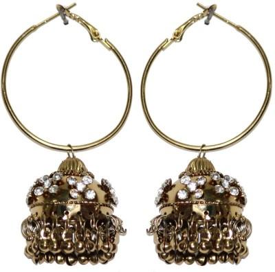 Eli John Styles Golden Diamond Alloy Jhumki Earring