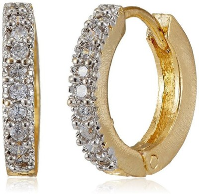 Shubh 4u American Diamond Alloy Hoop Earring