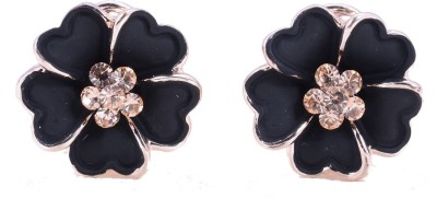 Amour Floral Crystal Alloy Stud Earring