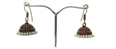 modifier Golden Hat Beads Alloy Jhumki Earring