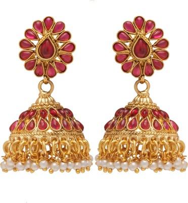 Aashvi Creation Antique Jhumki Beads Copper Jhumki Earring