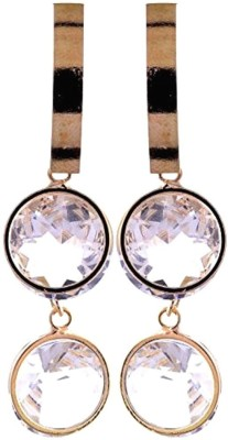 Gliteri Hanging doubles Crystal Alloy Drop Earring
