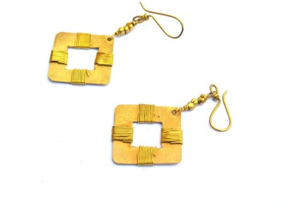 Art Godaam Dhokra Tribal 0017 Brass Dangle Earring