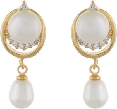Classique DesignerJewellery Glossy Pearl Alloy Dangle Earring