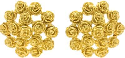 Eighth Fold Golden Rose Brass Stud Earring