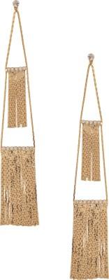 Wildflower Layered Gold Earrings Metal Chandelier Earring