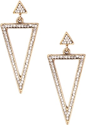 20Dresses Double The Fun Triangular Metal Drop Earring