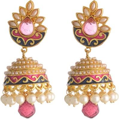 Neckies Jhumka Earrings Yellow Gold Jhumki Earring