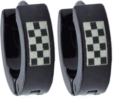 Men Style Box Design 316 L Stainless Steel Hoop Earring