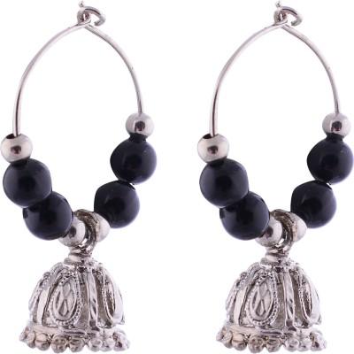 FashionFundamentals Crystal Metal Jhumki Earring