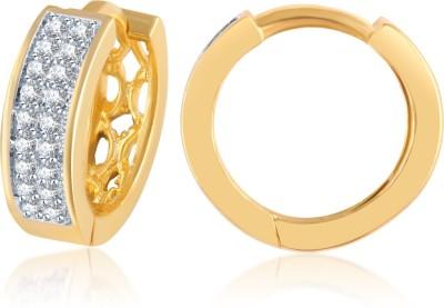 Shubh 4u American Diamond Cubic Zirconia Alloy Hoop Earring