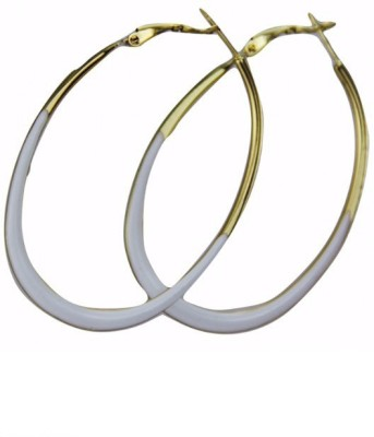 Fashion Berg Accessories WHITE BALLIE Alloy Hoop Earring