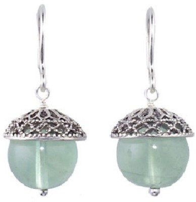 The Museum Outlet Fluorite Pomander Alloy Drop Earring